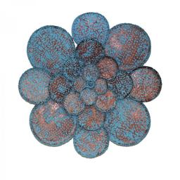 ΔΙΑΚΟΣΜΗΤΙΚΟ ΤΟΙΧΟΥ ΜΕΤΑΛΛΙΚΟ LOTUS M & FLOWER - ΜΠΛΕ