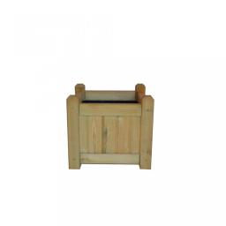 Ξύλινη γλάστρα τετράγωνη Γρανάδα 45(Υ) x 50 x 50εκ.
