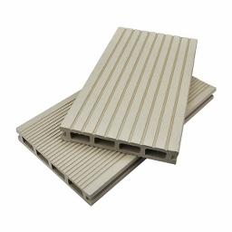 Συνθετικό Πάτωμα / Deck 2,5 x 15 x 390εκ. - Λευκό / Μπέζ SHOWOOD