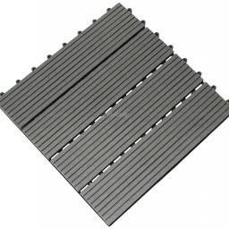 Πλακίδιο Deck WPC Γκρι 30 x 30εκ.