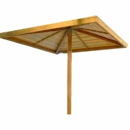 Ξύλινη Ομπρέλα Παραλίας 240(Υ) 210 x 210εκ.