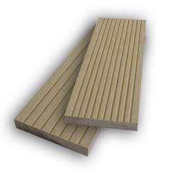 Τάβλα μασίφ WPC - λευκό/μπεζ 1,2 x 7,2εκ.
