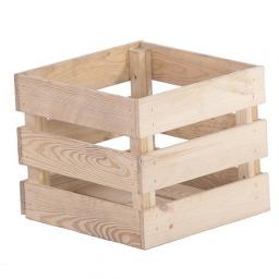 Ξύλινο καλάθι τετράγωνο