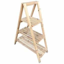 Ξύλινη ραφιέρα σκάλα