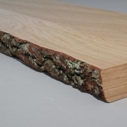 Ξύλινο ράφι απο φλοιό πεύκου 60εκ.