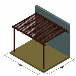 Πέργκολα με περσίδες πλάτους 5,8εκ. από τοίχο
