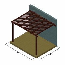 Πέργκολα με περσίδες πλάτους 9,5εκ. από τοίχο