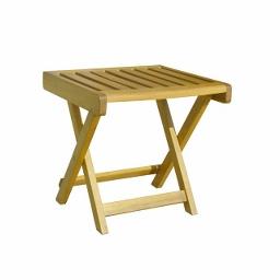 Βοηθητικό τραπέζι ξαπλώστρας acacia 45(Υ) x 40 x 40εκ.