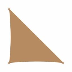 Τρίγωνο πανί σκίασης 230gsm ΓΩΝΙΑ 90° - 4,2 x 4,2 x 6m - Αμμου