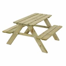 Ξύλινο παιδικό τραπέζι - πάγκος 50(Υ) x 89 x 89εκ.